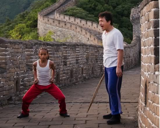 Jade Smith och Jackie Chan i Karate Kid 2010